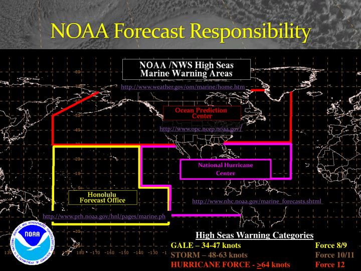 Noaa forecast responsibility
