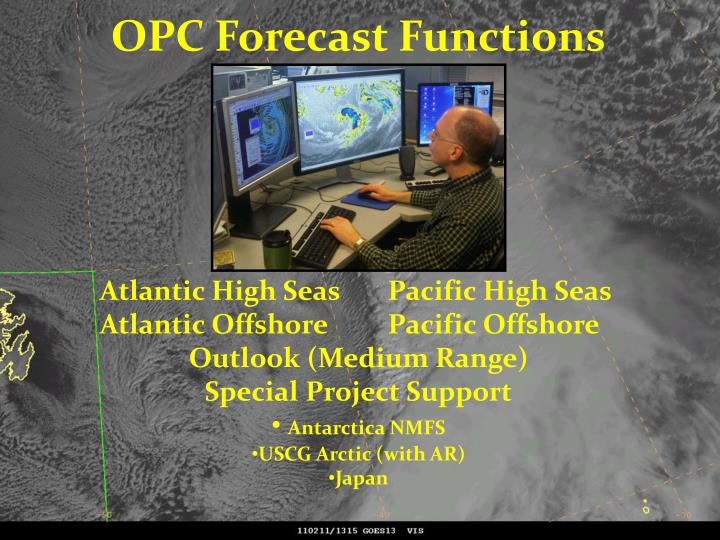 OPC Forecast Functions
