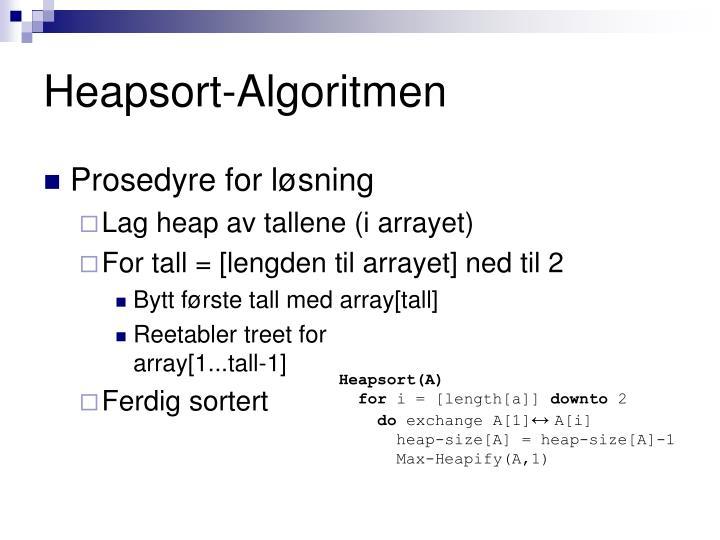 Heapsort-Algoritmen