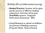 activity ipa and differentiated learning