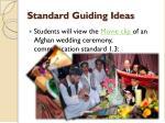 standard guiding ideas