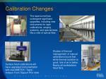 calibration changes