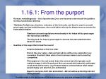 1 16 1 from the purport