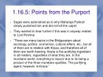 1 16 5 points from the purport