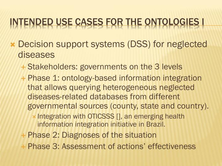 Decision support systems (DSS) for neglected diseases