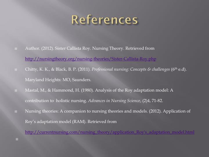 currentnursing com nursing theory