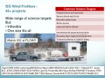 iss wind profilers 40 projects