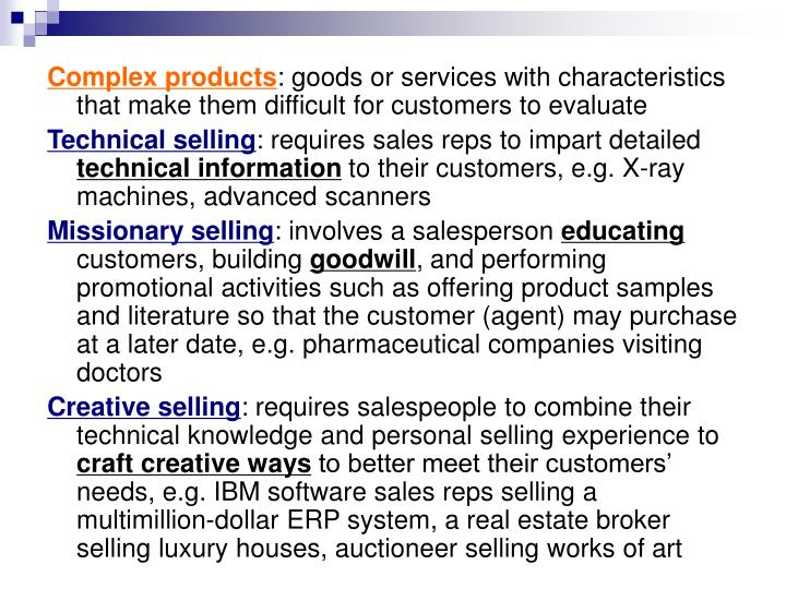 Complex products
