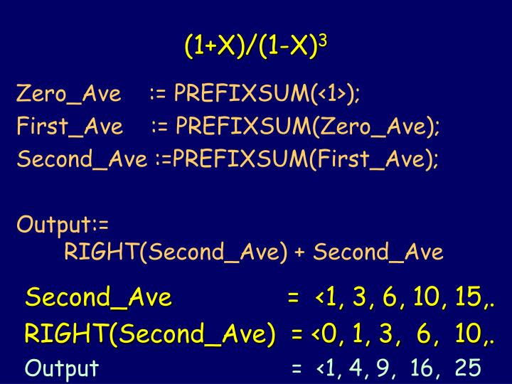 (1+X)/(1-X)