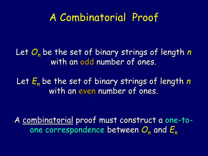 A Combinatorial  Proof