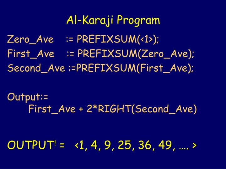 Al-Karaji Program