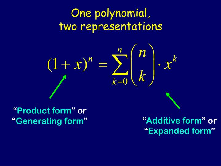 One polynomial,