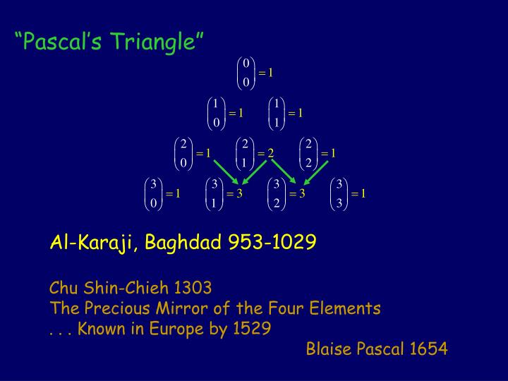 """Pascal's Triangle"""