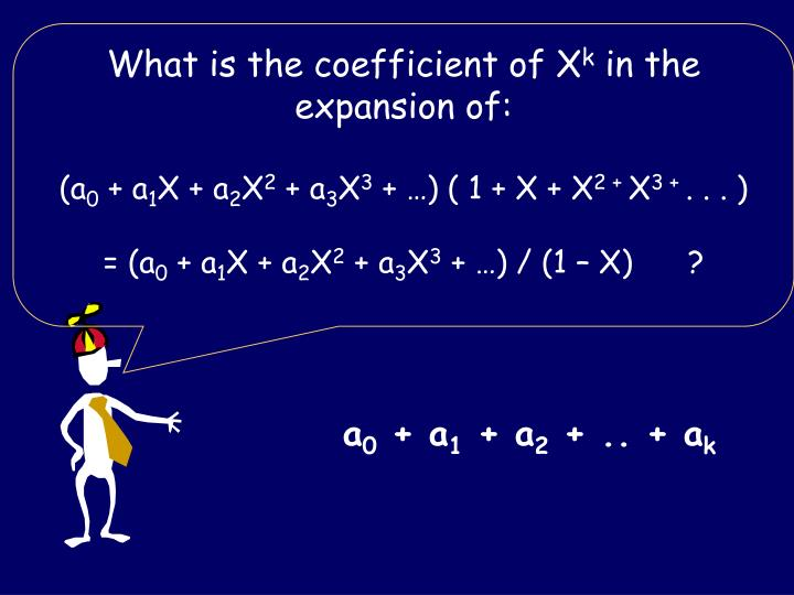 What is the coefficient of X