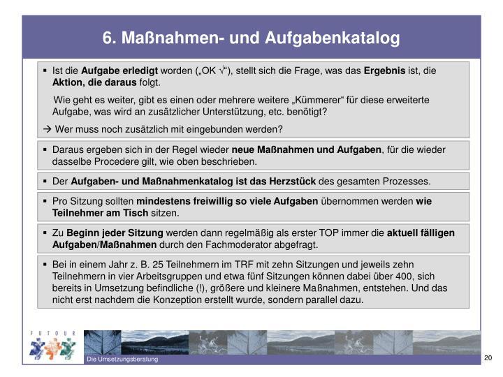 6. Maßnahmen- und Aufgabenkatalog