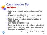 communication tips builders