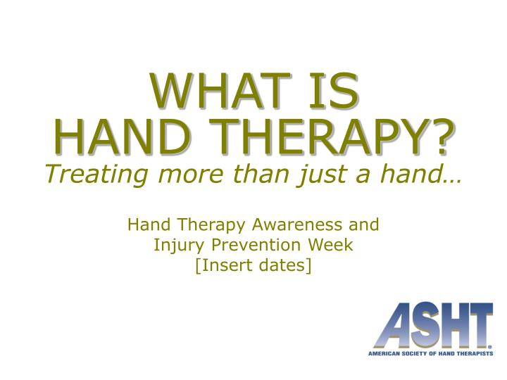 what is hand therapy treating more than just a hand