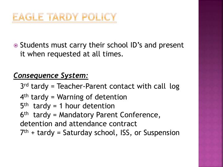 Eagle tardy policy1