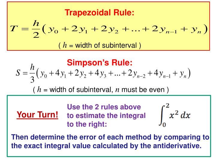 Simpson's Rule: