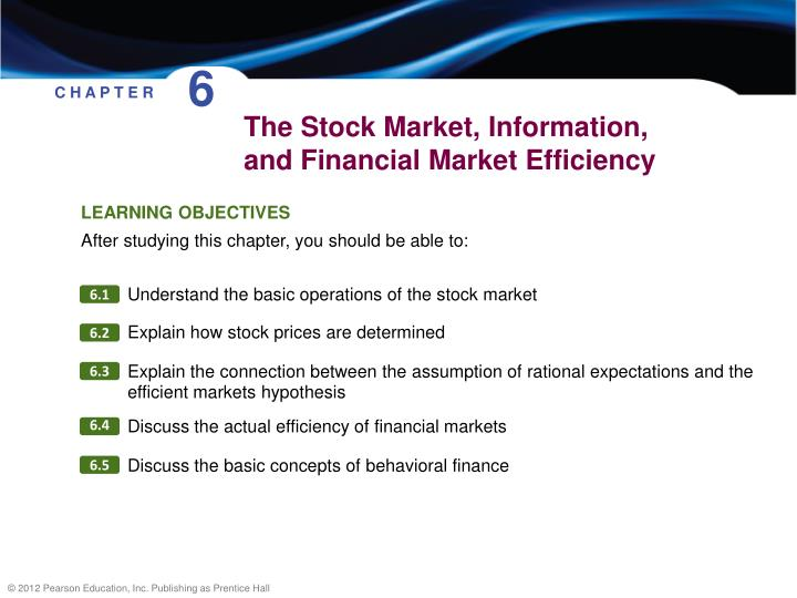 the stock market information and financial market efficiency n.