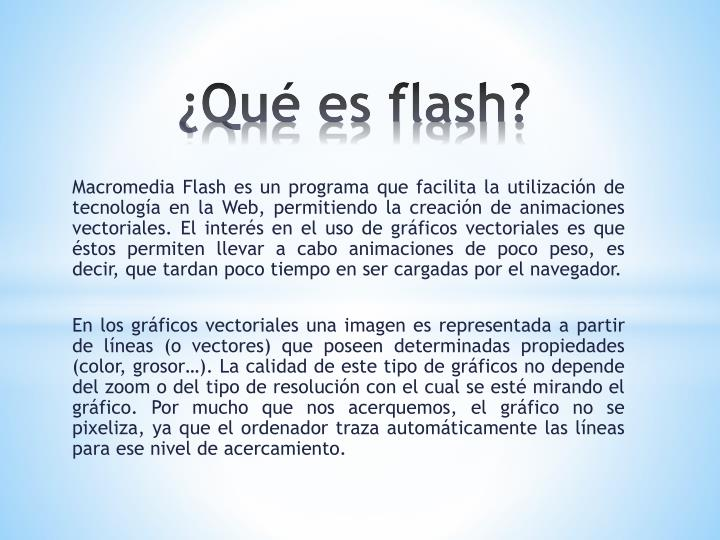 Qu es flash