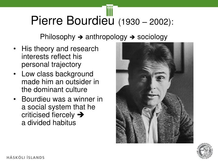 bourdieu and becker 2 introduction pierre bourdieu's (1993) concept of artistic fields and howard becker's (1982) concept of art worlds are often portrayed as having complimentary strengths and weaknesses.