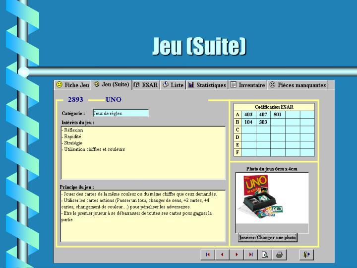 Jeu (Suite)
