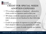 credit for special needs adoption expenses2
