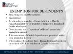 exemption for dependents1