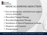 medical expense deduction1