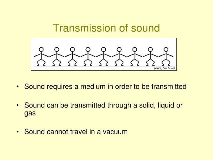 Transmission of sound
