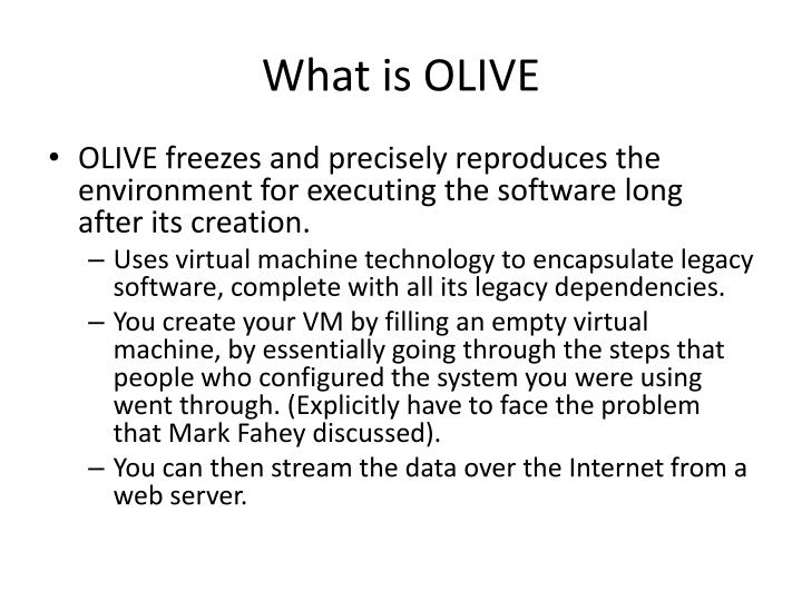 What is olive