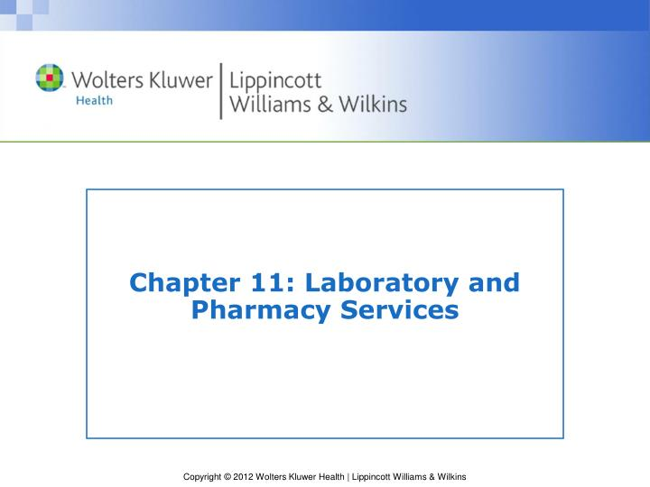 chapter 11 laboratory and pharmacy services n.