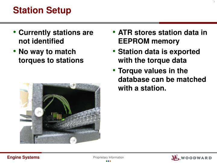 Station Setup