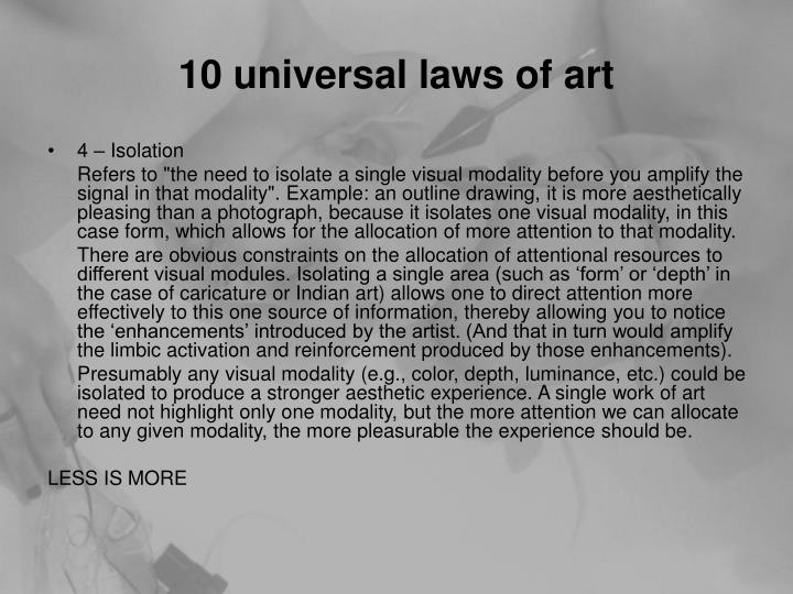 10 universal laws of art