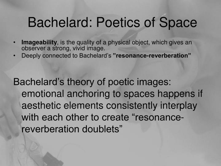 Bachelard: Poetics of Space