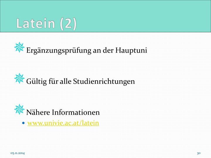 Latein (2)