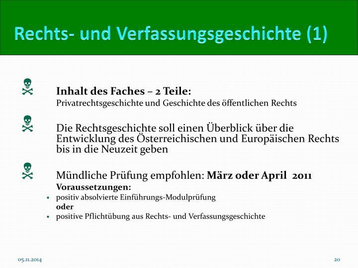 Rechts- und Verfassungsgeschichte (1)