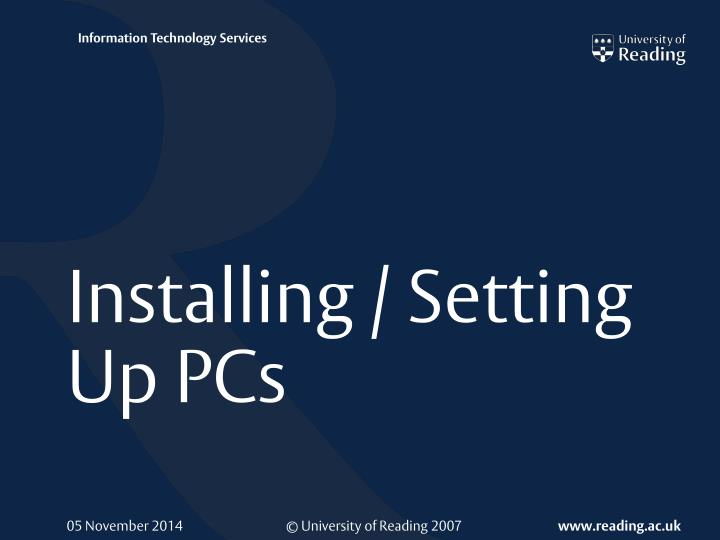 Installing setting up pcs