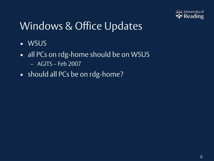 Windows & Office Updates