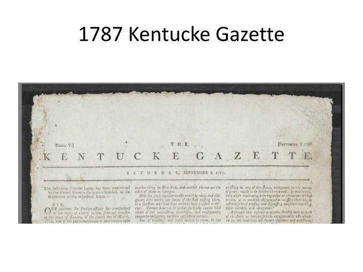 1787 kentucke gazette