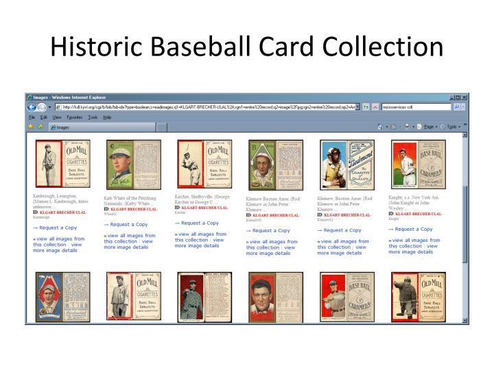 Historic Baseball Card Collection