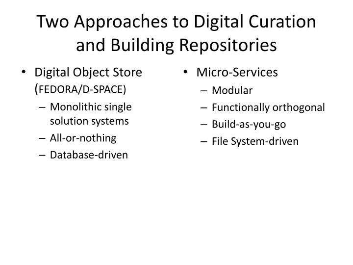 Two Approaches to Digital