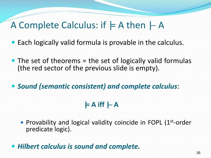 A Complete Calculus: if