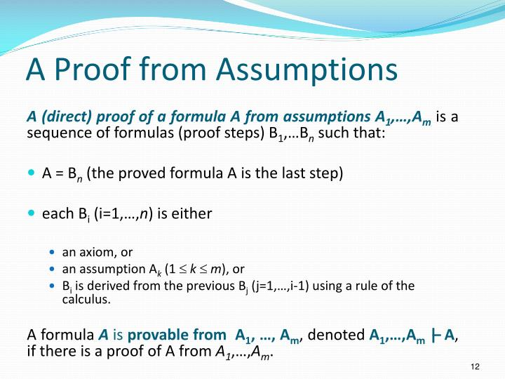 A Proof from Assumptions