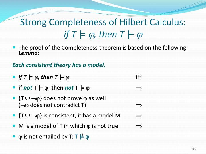 Strong Completeness of Hilbert Calculus: