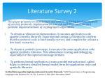 literature survey 2