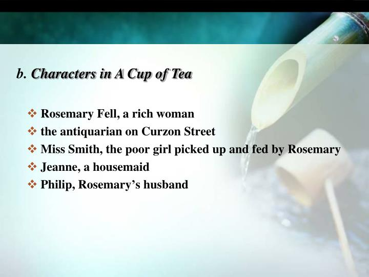 Rosemary Fell, a rich woman