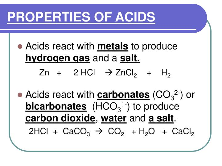 Properties of acids1