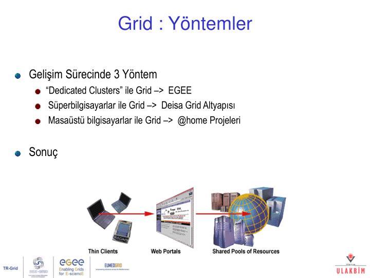 Grid : Yöntemler